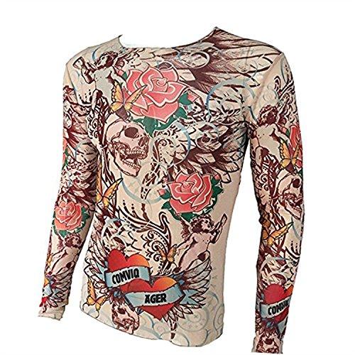 SHINA-Tattoo-T-Shirt-Elastic-Suitable