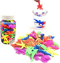 Guaishou Water Growing Sea Creatures Expandable Oceanic Animals Pack of 45pcs Figures Grows Like Magic in Water