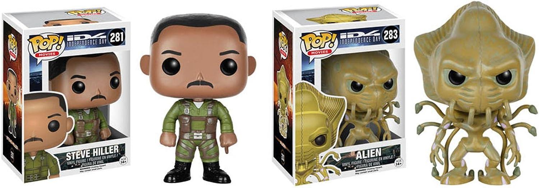 Funko POP ID4  Independence Day Steve Hiller and Alien 2 Piece BUNDLE