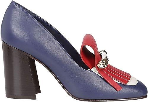 Valentino Damen RW2S0K85VBKHR5 Blau Leder Mokassins