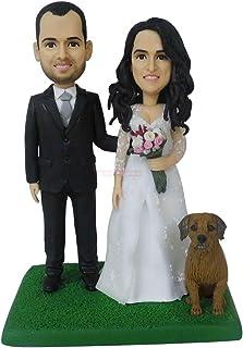 topper torta nuziale con figurina di cane fare bambole regali personalizzati all'ingrosso bambolina regali di compleanno b...