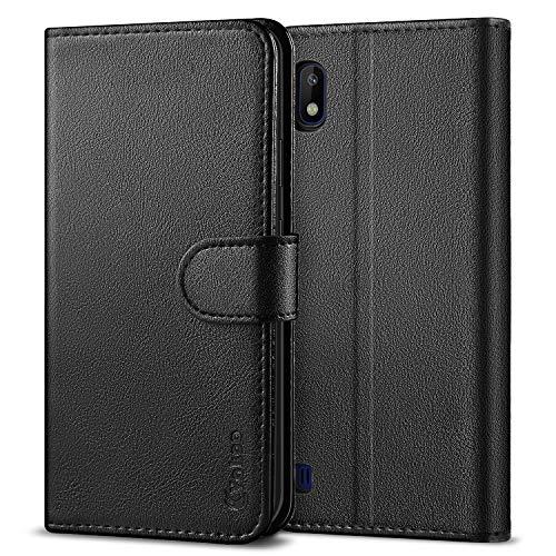 Vakoo PU-Pelle Cover per Samsung Galaxy A10 Portafoglio Custodia - Nero