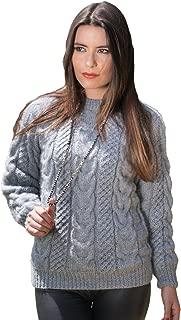 Gamboa - Cable Knit Alpaca Sweater - Handwoven Alpaca Sweater - Pearl Grey