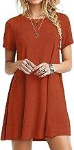 YOINS Women Mini Dresses Short Sleeve Casual Loose Tunic