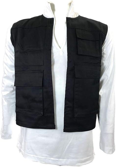 costumebase Han Solo ANH chaleco negro + camisa blanca de ...