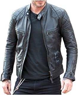 New York David Beckham Leather Quilted Jacket