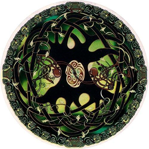 Celtic Art Studio Tree of Life - Window Sticker/Decal (4.5' X 4.5') Circular Translucent