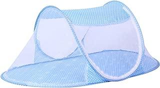 JUMUU Thin Summer Mosquito Net for Children ,Portable Folding Baby Travel Bed Crib Baby Cots Newborn Foldable Crib (Blue)
