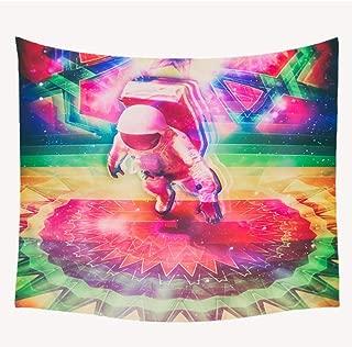 LTTGG Patrón de Flor de Mandala de Astronauta Colgante de Pared Chica Rosa Animal Print Tapiz Fondo Tela Toalla de Playa Manta Sofá Toalla muur wandtapijten Parede