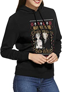 May All Your Christmases Bea White Womans Long Sleeve Hooded Sweatshirt Tops Casual Sport Pullover Sweater Pullover Hoodies