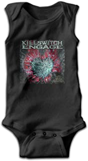 Killswitch Engage The End of Heartache Baby Boy Girl Sleeveless Baby Clothes Cute Casual Black