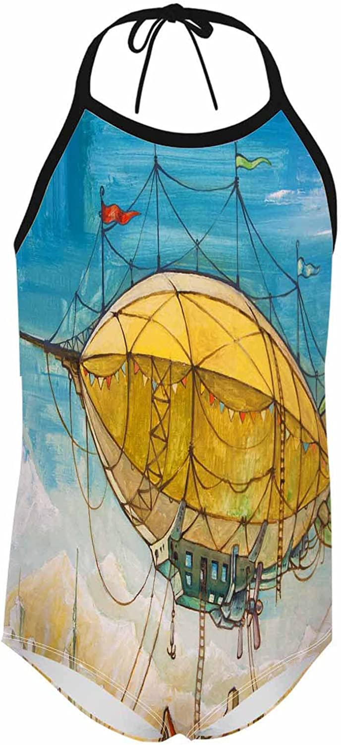 Nicokee Women Swimsuit Airship Ancho Balloon Mountains Now free Genuine shipping Buildings