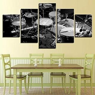 Canvas Wall Art Hd Prints Modern Painting Frame Living Room 5 Piezas Drum Kit-Frame_40X60_40X80_40X100Cm