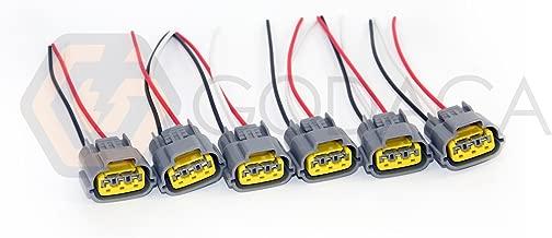 Set of 6 Connector Plug Harness for Nissan Skyline Ignition Coil Sr20 Rb20 Rb25