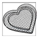 Kieskönig Herz Gitter Grabschmuck Grabgestaltung Pflanzschale Friedhof Grabdeko Herz ohne Steine