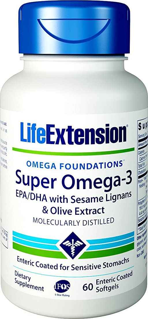 有罪所持ファセットSUPER OMEGA-3 EPA/DHA W/SESAME LIGANS & OLIVE EXTRACT EXTERIC COATED 60 SOFTGELS 海外直送品