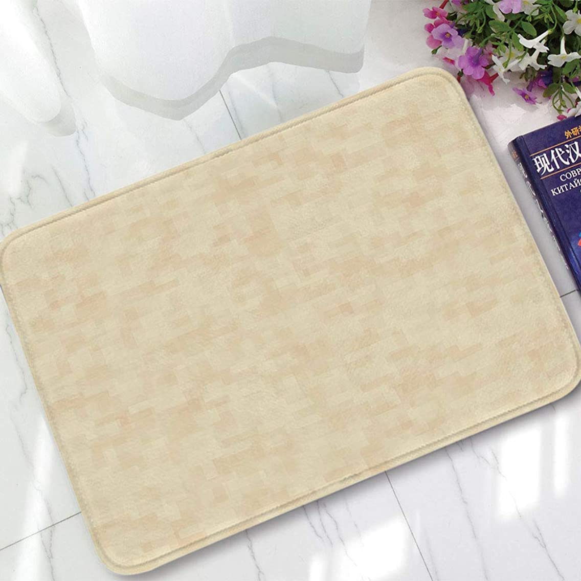 YOLIYANA Non-Slip Mat,Ivory,for Bathroom Kitchen Bedroom,15.75