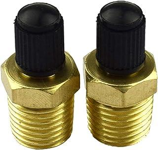 FLAMEER Paar 1/4 NPT luchtcompressor tank vullen ventiel autoventiel met kunststof kap voor auto vrachtwagen personenauto