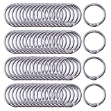 Antner Book Rings 1-Inch Small Binder Rings Nickel Plated Metal Loose Leaf Rings, 120 Pack