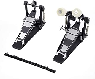 Drums Pedal,Heavy Duty Double Bass Dual Foot Kick Percussion Drum Set Accessories, 13.2 6.5 9.1in
