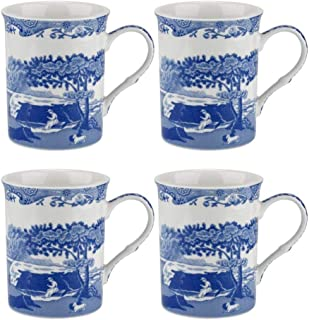 Bleu//Blanc Bleu Italien 12/cm Plat sur Pied en Porcelaine