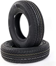 MILLION PARTS All Season Load Radial Trailer Tires ST225/75R15 8 Ply Load Range D, Set of 2