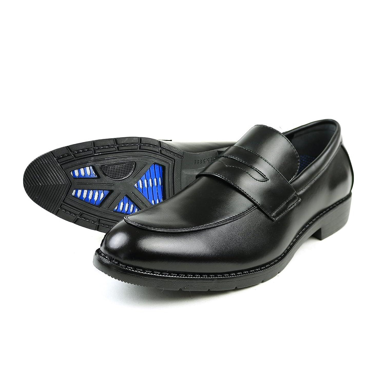 [AIRCAVE] エアケーブ 空気循環ソール 通気性 防水 透湿 軽量 カップインソール メンズ 紐 ビット ローファー Uチップ 防滑 脚長 3EEE ドレスシューズ 紳士靴