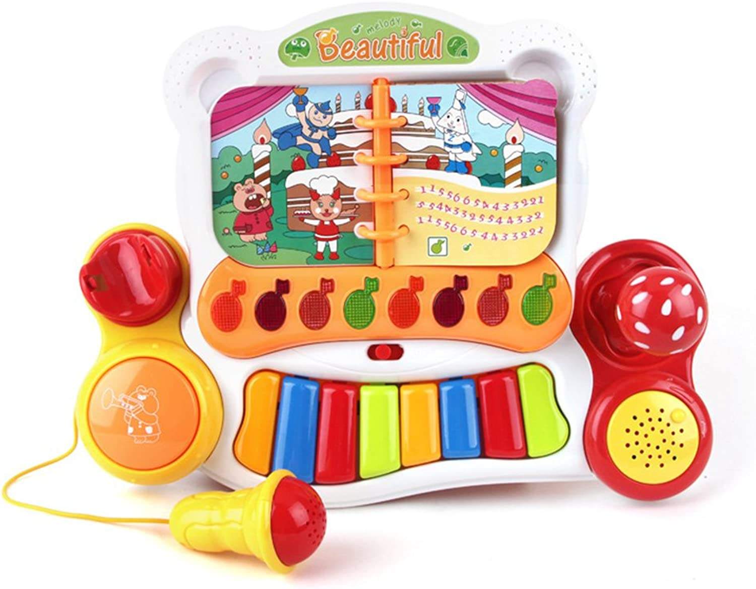 NUOLUX Baby Musical Toy Educational Kids Piano Keyboard Toy with Microphone and Light