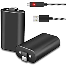 Xbox One Controller Battery Pack Play & Charge kit,2Pcs X 1600 mAh Rechargeable Batteries with 10FT USB Charging Cable for Microsoft Xbox One,Xbox One S/X Elite Wireless Controllers