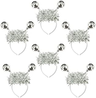 Crazy Night Silver Head Boppers Hair Accessories Silver Disco Ball Boppers-6Pcs