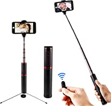 ASHANKS Selfie Stick Tripod with Bluetooth Remote, 8 Inch 3-in-1 Lightweight and Compact Design Pocket Size Portable Extendable Phone Tripod,Compatible with iPhone and Android