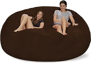 Chill Sack Bean Bag Chair: Giant 8' Memory Foam Furniture Bean Bag - Big Sofa with Soft Micro Fiber Cover - Chocolate