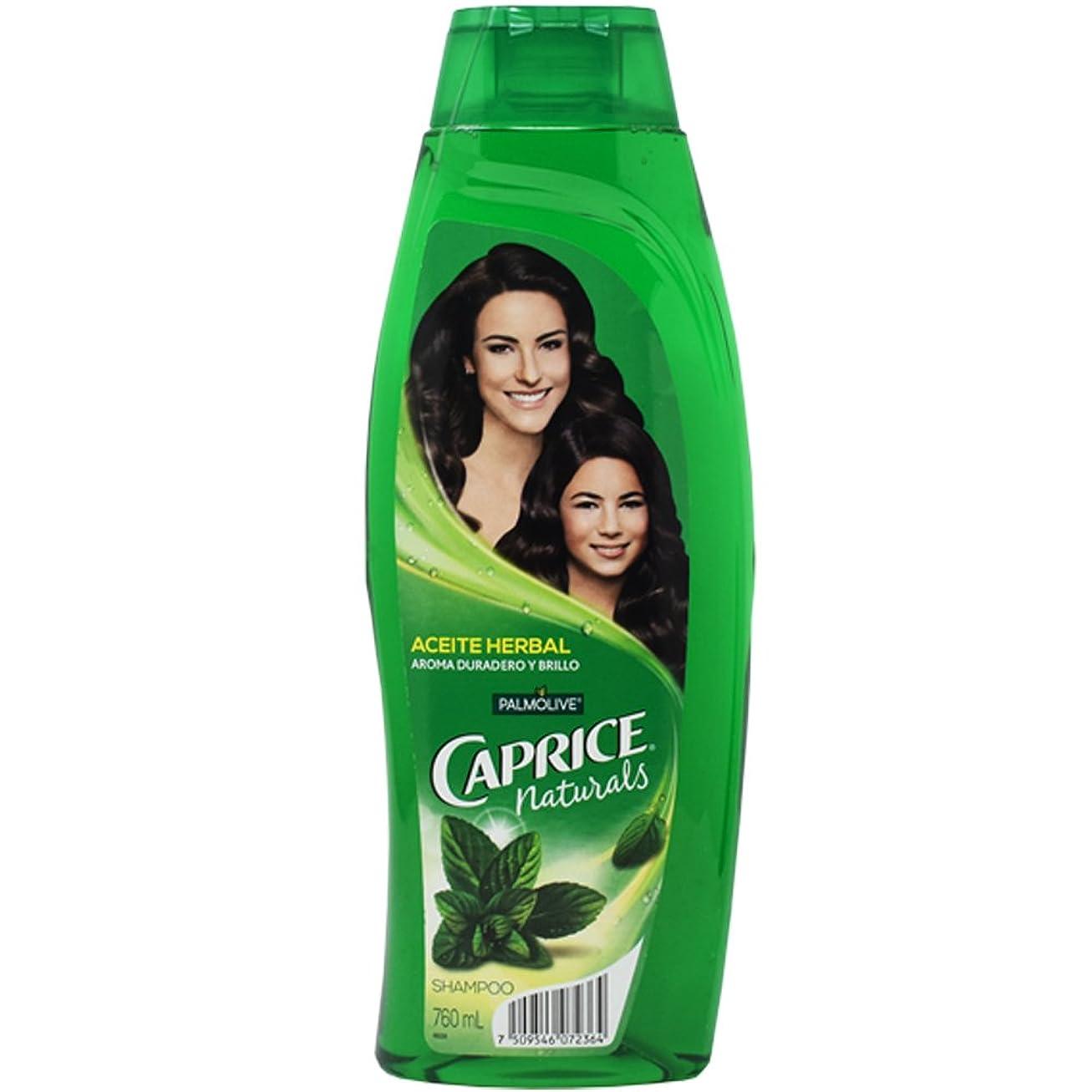 正規化ビルダー平等Caprice Naturals Shampoo con Aceite Herbal 800ml by Palmolive [並行輸入品]