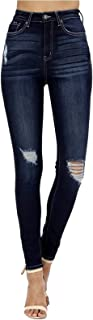 Women's High Rise Destroyed Skinny Jeans KC6223