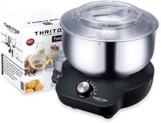 THRITOP Stand Mixer Food Mixers, with 5QT Mixing Bowl for Bread and Dough, Electric Mixer with Dough Hook, Whisk, Cookies ...