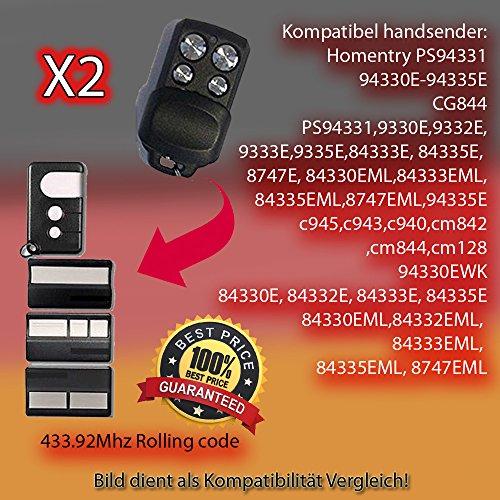 433.92Mhz X2 4330E 4332E Rolling Code 4333E,4335E Ersatz f/ür Handsender der Fernbedienung