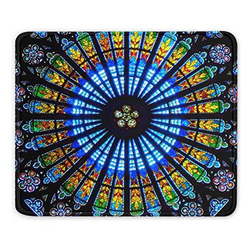 France Rosace Cathédrale de Strasbourg Tapis de Souris Souvenir Cadeau 7,9 x 9,5 po Tapis en Caoutchouc de 3 mm
