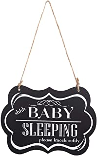 knock quietly baby sleeping sign