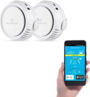 [Updated Version] Wasserstein Smart Water, Temperature & Humidity Sensor - Audio Alarm and App Notification Alerts, No Expensive Hub Required, Simple Plug & Play (2-Pack)