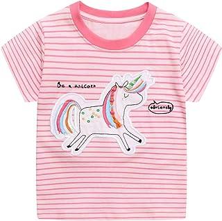 JinBei Camiseta Bebé Niña Manga Corta T-Shirts Algodon Camisetas Elegante Verano Casual Tops Personalizada Deporte Blusas ...