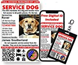 Just 4 Paws Custom Service Dog ID Card with...