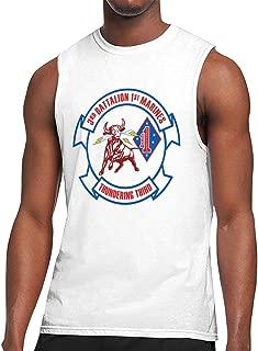 3rd Battalion, 1st Marines Men's Round Collar Sleeveless Shirt Bodybuilding Tank Top