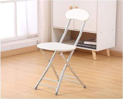 Kaiyitong Chaise Pliante, Chaise de Mode portative, Chaise d'ordinateur Simple, appropriée à la Maison, au Restaurant, à la Formation de Bureau, facultative MultiCouleure Durable