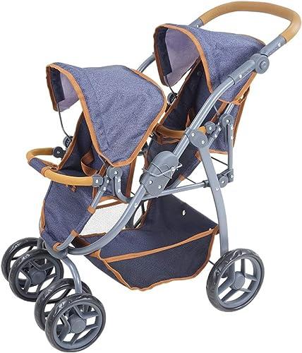 liquidación hasta el 70% Knorr 16430 - Cochecito de de de bebé para muñecas, Color azul Oscuro  producto de calidad