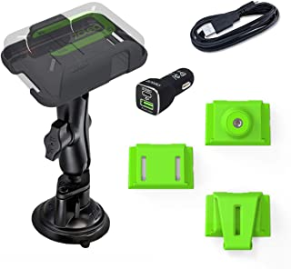 $75 » ZOLEO Universal Mount Accessory Kit Including RAM Twist-Lock Suction Cup Mount, DC Car Charger with USB Cable, and 3 Inser...