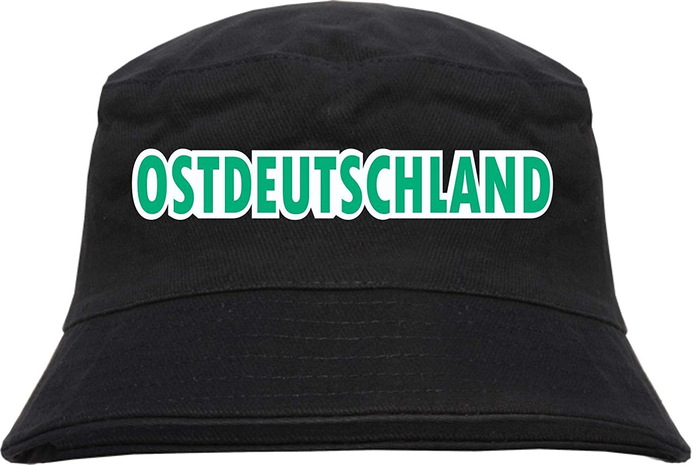 Bucket Hat HB/_Druck Ostdeutschland Blockschrift farbig Fischerhut