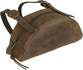 TrailMax Leather Pommel Pocket Horse Saddle Bag for Western Or Endurance Saddle, Premium Leather with Brass Buckles, Part ...