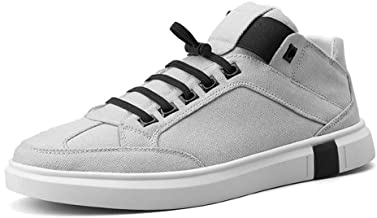 Soft Daily Easeful Fashion Sneakers For Men Acrobatic Sport Breathable Canvas Shoes Side Elastic Bands Training Linear Wide Casual