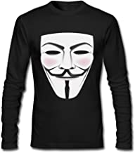 Seico Mens V For Vendetta Mask Freedom Fighter Tee Shirts