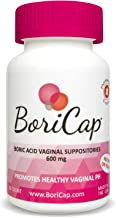 BoriCap Boric Acid Vaginal Suppositories | 30 Count, 600mg | Capsules Size 00 | No Fillers, Flow Agents or Artificial Colors | Gynecologist Instructions Included | Made in The USA